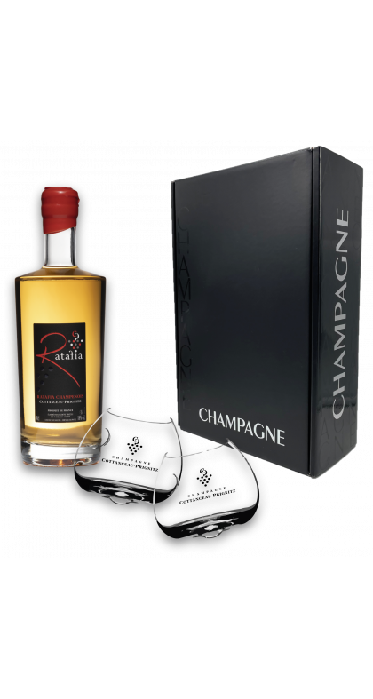 Champagne COTTANCEAU-PRIGNITZ coffret ratafia champenois